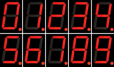 LED display boards - sign seven segment displays