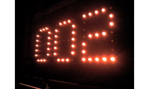 LED sign seven segment displays